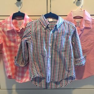 Bundle of toddler boys, 2T button down shirts.